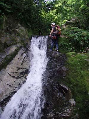 中流部の滝