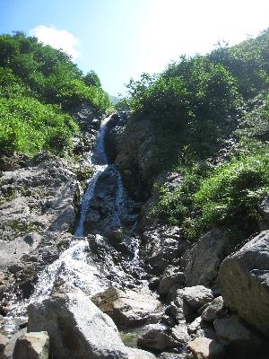上流域の滝