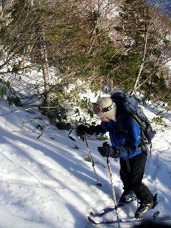 スキー登高に挑戦