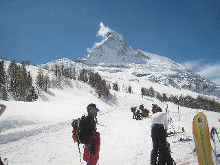 最後はツェルマットのスキー場でフィナーレ