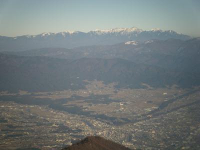 権現山から八ヶ岳を望む