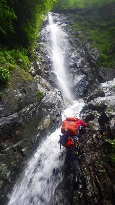 イイハシの大滝1段目はフリー