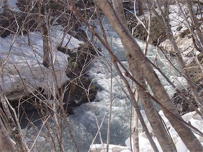 激流爆流の白戸川